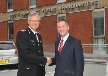 Chief Constable David Crompton and Police and Crime Commissioner Shaun Wright